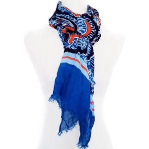 Vera Bradley scarf blue paisley Marrakech print